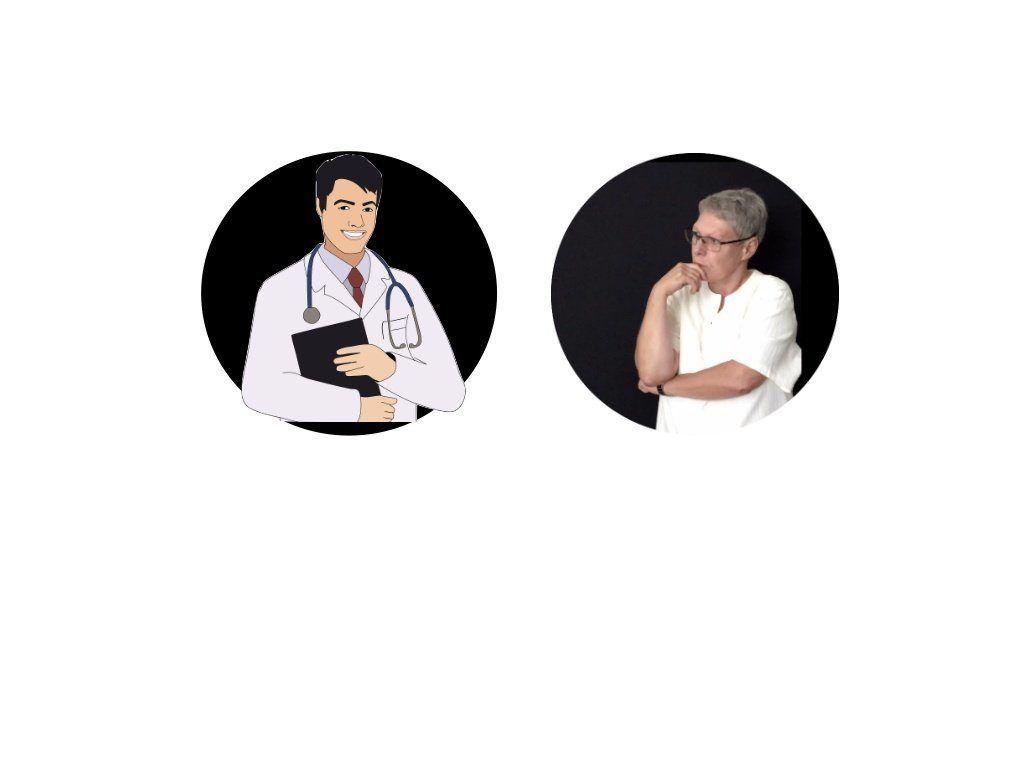 Bild: Ärztestress mit einem Arzt und Susanne Richter von der Firma Co-Promoting