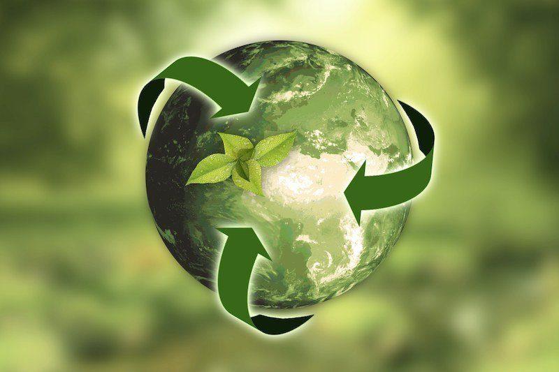 Bild: Grüne Weltkugel