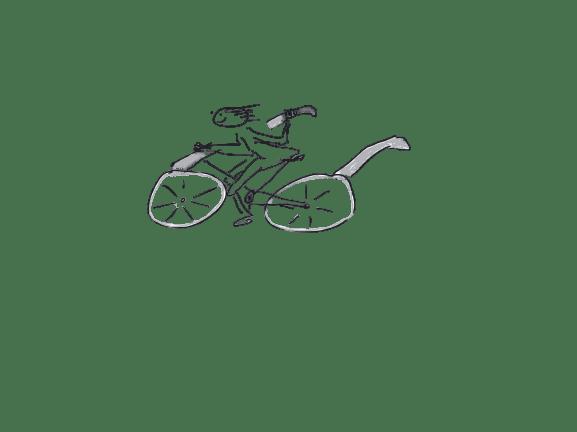 Bild: Ein Brillenfahrrad