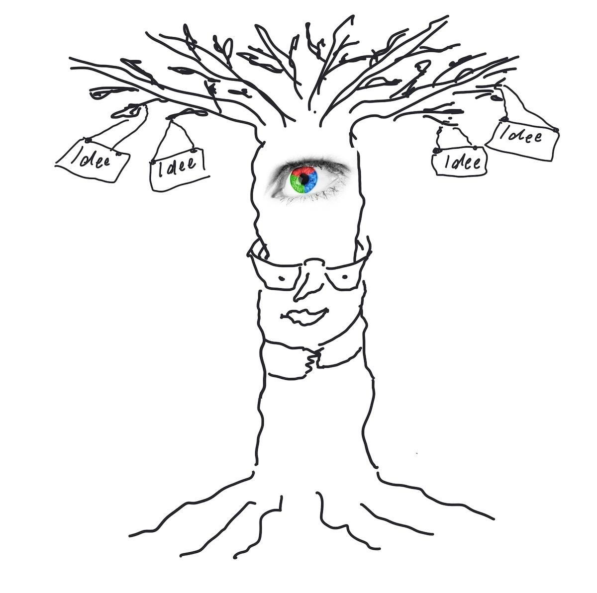 Zeichnung: Baum als Metapher für neue Ideen