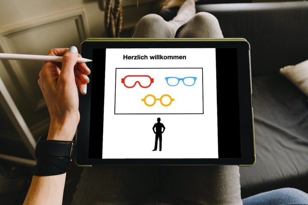 Bild: Bildschrim mit einer Webseite